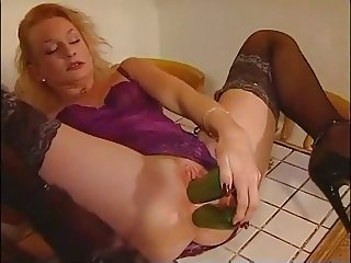 Amateur - Mature Dble Cucumber Workout