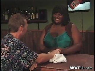 Horny busty ebony chick with huge boobs