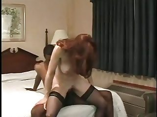 Redhead riding long dick