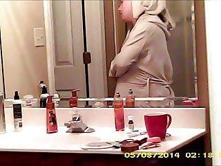 hidden wife compilation before-after shower