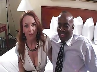 Milf Janet meets blk friend for creampie action