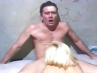 Blonde Girl having sex inside jail