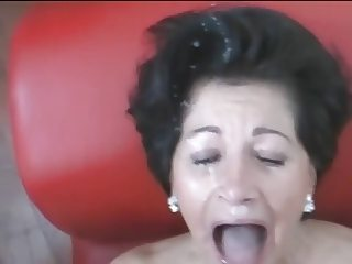 Wanking-off on Her #20 (Granny GILF, EXPLOSIVE Facial)