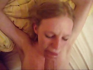 skinny girl fuck, blowjob & facial (german)