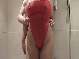 Pantyhose in Bathroom