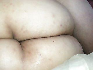 humping her ass no cum. with panties around my cock
