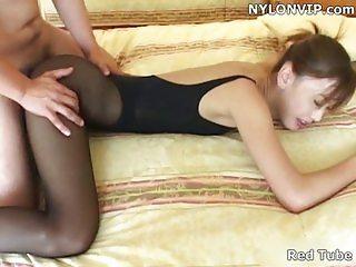 Secretary pantyhose fuck leotard sex