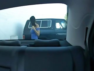 Big tits MILF fuccked in backseat of car