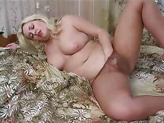 Chubby Milf Pantyhose Masturbation BVR