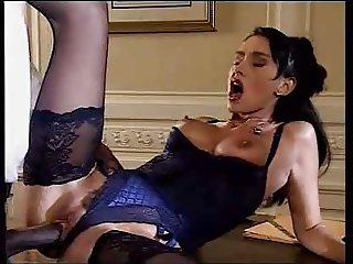 SH Retro Beautiful Hairy Lady Takes Huge Black Cock