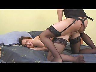 Lipstick lesbian whores dildo fucking cunt