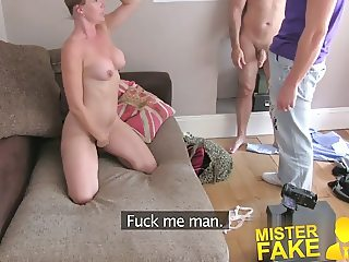 MisterFake Unexpected threesome surprise from cheating wife