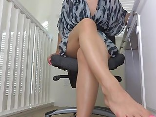 Secretary Foot Tease