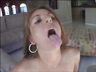 Ugly girl Veronica Stone taste black cum