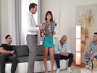 Tina Hot vs. 4 guys