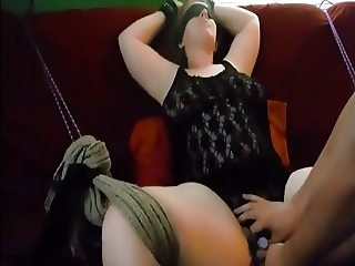 Restrained BBW Screaming orgasm WF