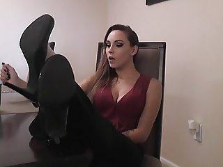 Sasha amazing nylon feet