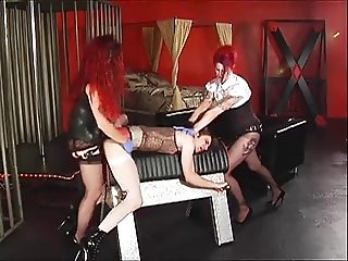 Crossdresser and two mistresses