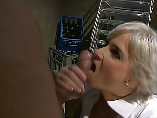 Blonde MILF Fuck in Basement