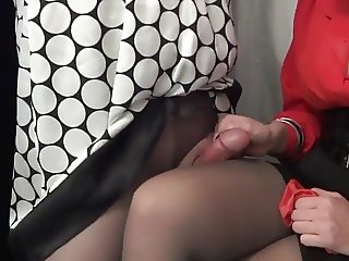 Cum in step Mommys Panties