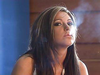 Hottie smoking a cigarette