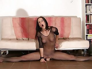 Flexible Gymnast Rides Dildo & Multiple Orgasms