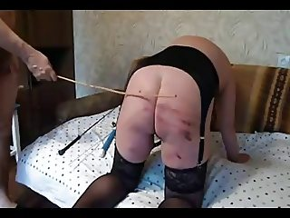 Homemade Spanking Caning 1