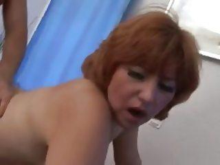 Mom-slut with plump body & guy