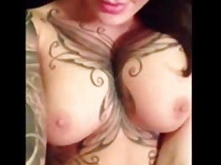 Tattooed Babe With Great Tits Bates