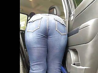 Jeans bendover