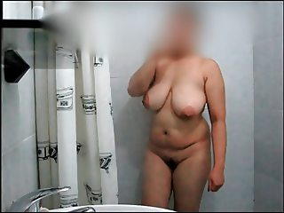 Celeste Showers Her Big Rack for Daddy Danny