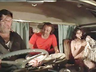 2 guys fucking a girl in van (Vintage)