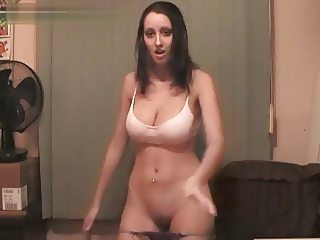 perfect boobs girl sexy webcam striptease dance