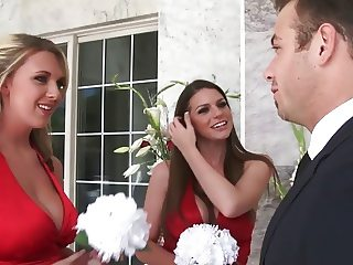 Fucking the bridesmaids Hot Blond with Big Boobs
