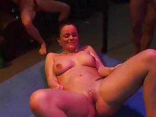 Amateur - Hot Mature Bareback Sperm Covered Gangbang