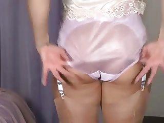 girl wearing multiple panties