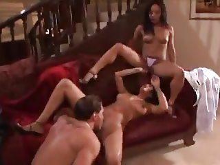 Brunette Threesome FFM