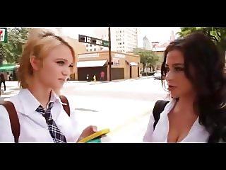 blond with latina teen - FFM threesome