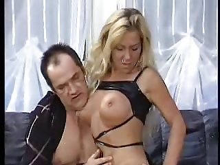 Blonde german slut with boots in pussy and ass