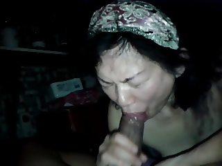 Friends mom blowjob swallow sperm