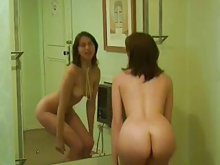 Naked in the mirror
