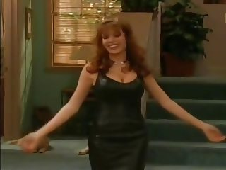 Nikki Cox in sexy leather clothes