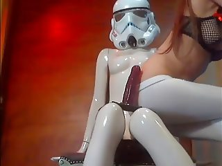 a girl with stormtrooper