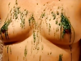 BDSM mature small tits nipples wax torture