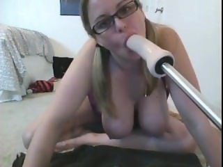 Face Fucking With A Dildo Machine