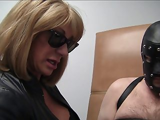 Muscle bitch auntie will cure your cock