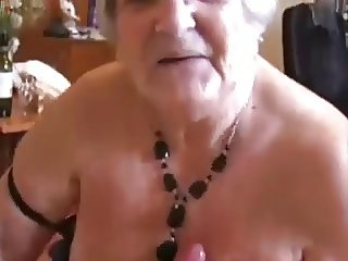 Grandma successfully milks a boys dick-daddi