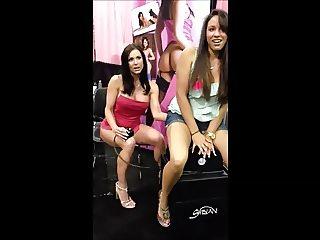 Kendra Lust w a fan riding the Sybian