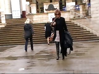 Milf in thigh boots goes shopping