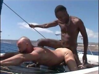 Hot Interracial Boat Sex